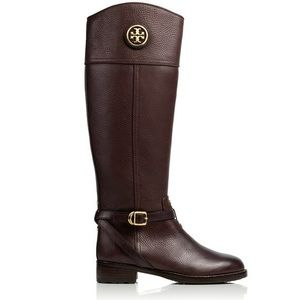 Dark Brown Tory Burch Theresa Riding Boots